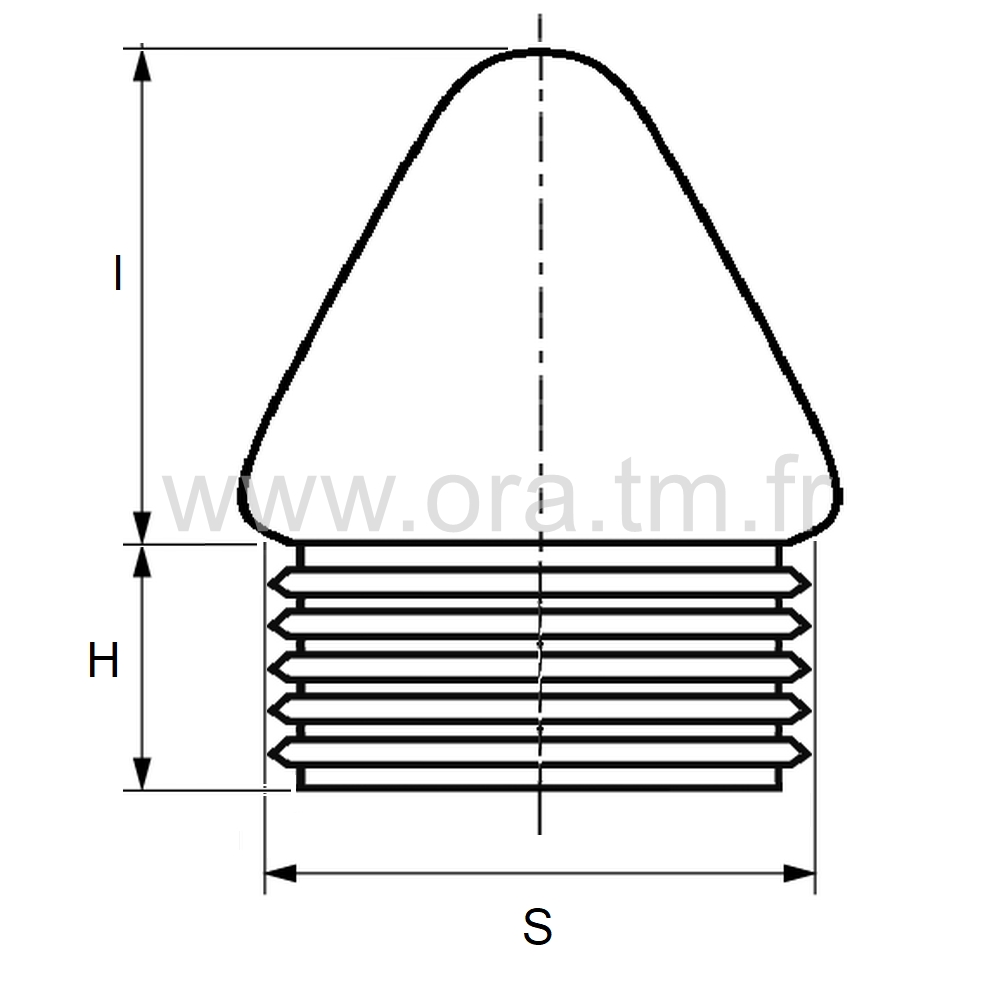 EAYCO - EMBOUT A AILETTES - SECTION CYLINDRIQUE