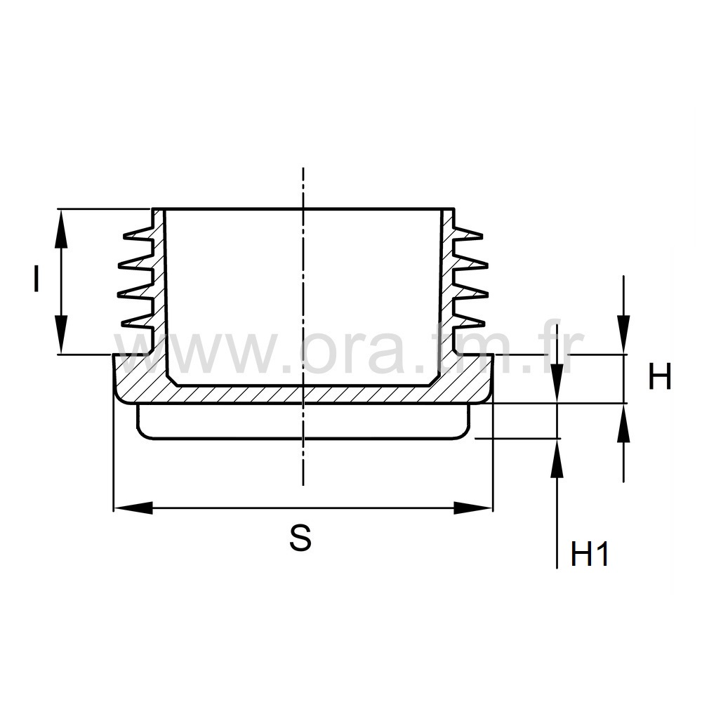EAZFE - EMBOUT A AILETTES - SECTION CYLINDRIQUE