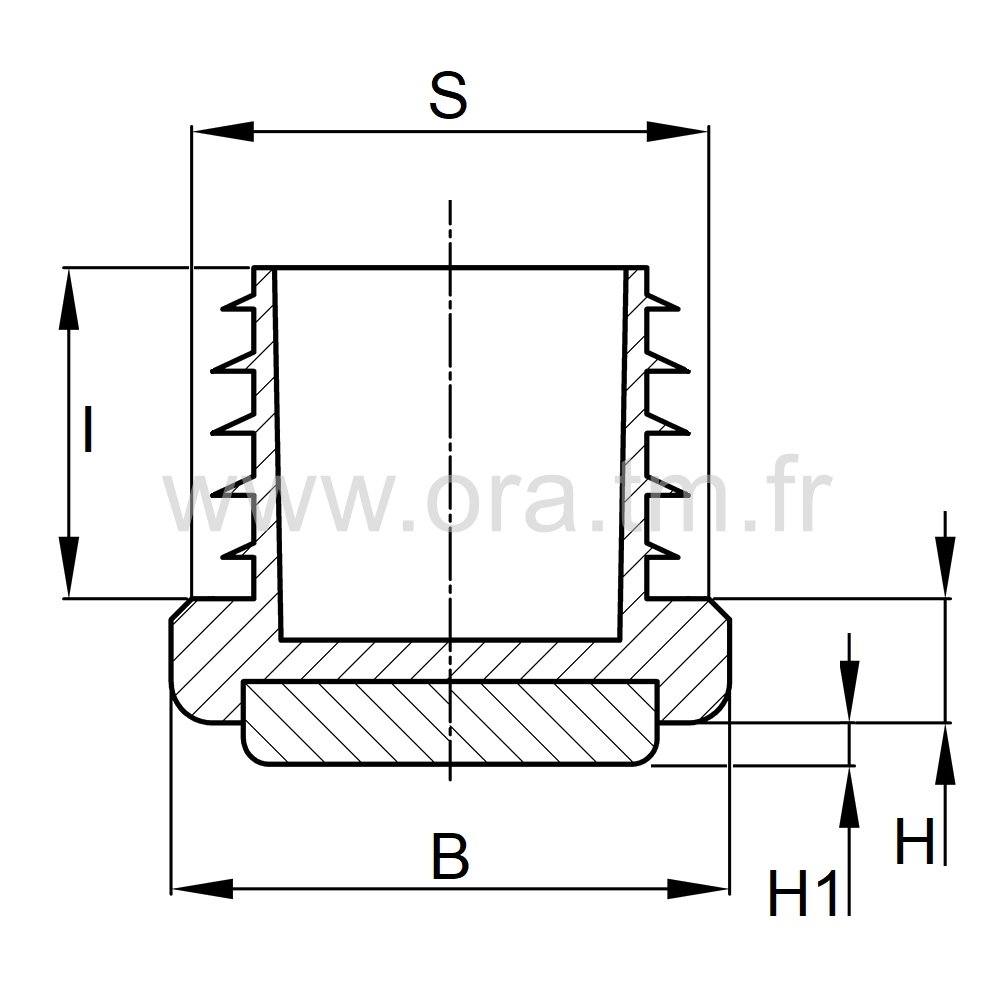 EAZFL - EMBOUT A AILETTES - SECTION CYLINDRIQUE
