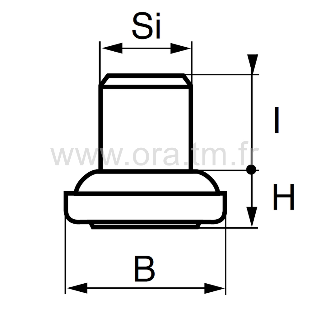 EDY - EMBOUT ROND A EMBASE - SECTION CYLINDRIQUE