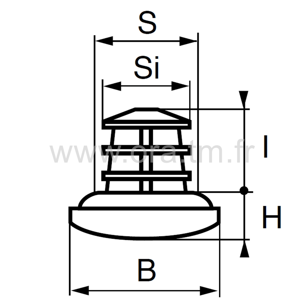EDYA - EMBOUT ROND A EMBASE - SECTION CYLINDRIQUE