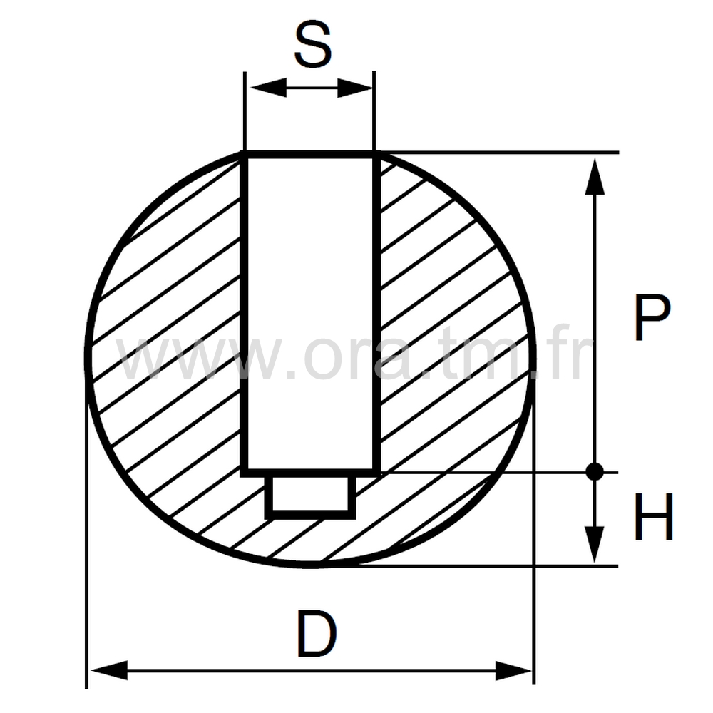 EEB - EMBOUT ENVELOPPANT - SECTION CYLINDRIQUE