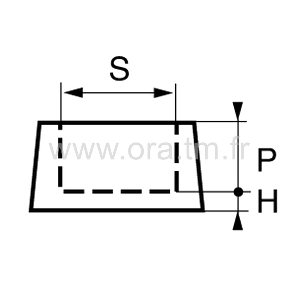 EEF - EMBOUT ENVELOPPANT - SECTION FER PLAT