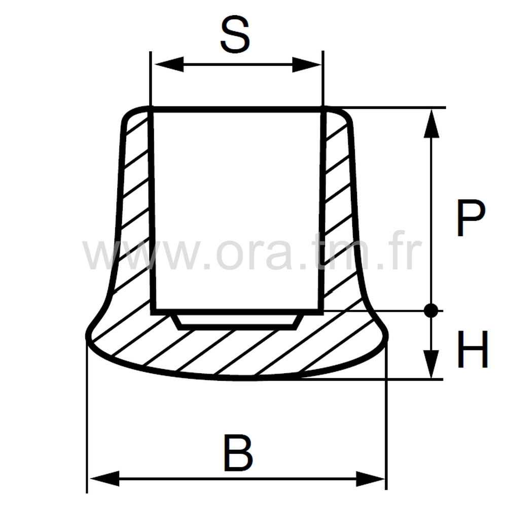 EEH - EMBOUT ENVELOPPANT - TUBE CYLINDRIQUE