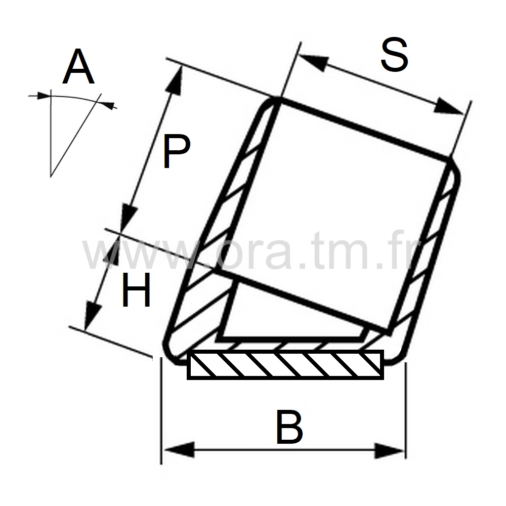 EEIFE - EMBOUT ENVELOPPANT - SECTION CYLINDRIQUE