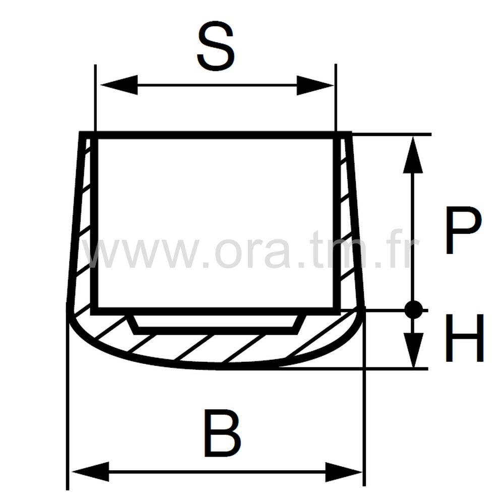 EEP - EMBOUT ENVELOPPANT - SECTION CYLINDRIQUE