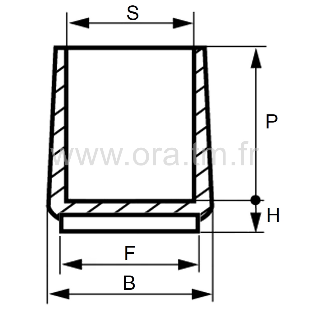 EEPFE - EMBOUT ENVELOPPANT - SECTION CYLINDRIQUE
