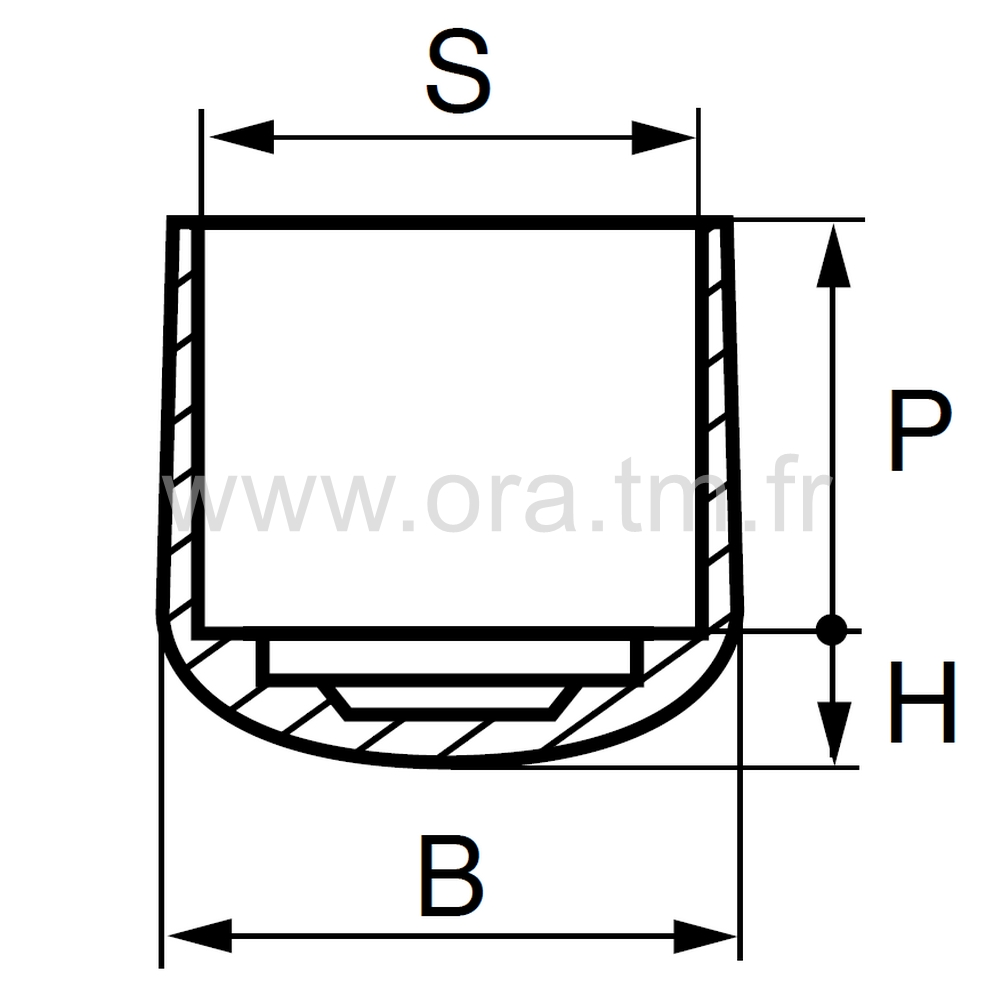 EEQ - EMBOUT ENVELOPPANT - SECTION CYLINDRIQUE