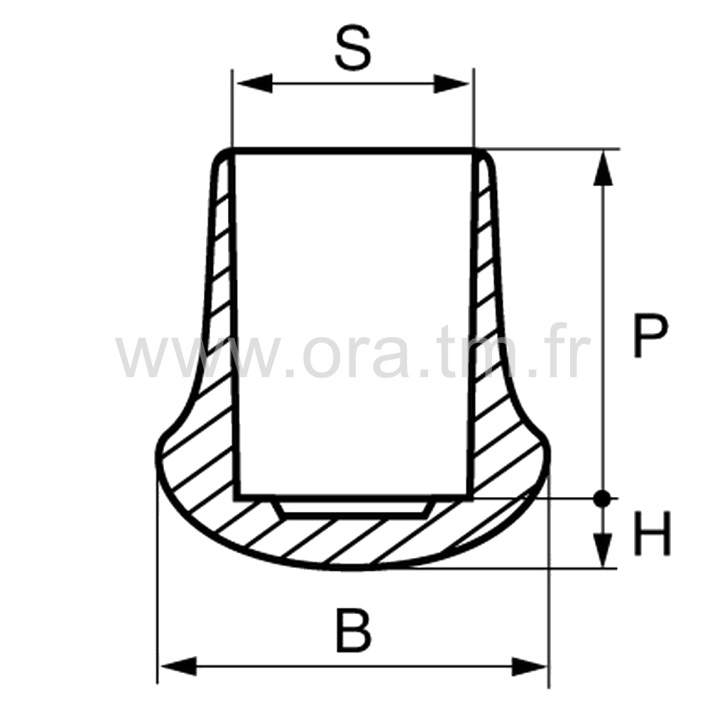 EES - EMBOUT ENVELOPPANT - SECTION CYLINDRIQUE