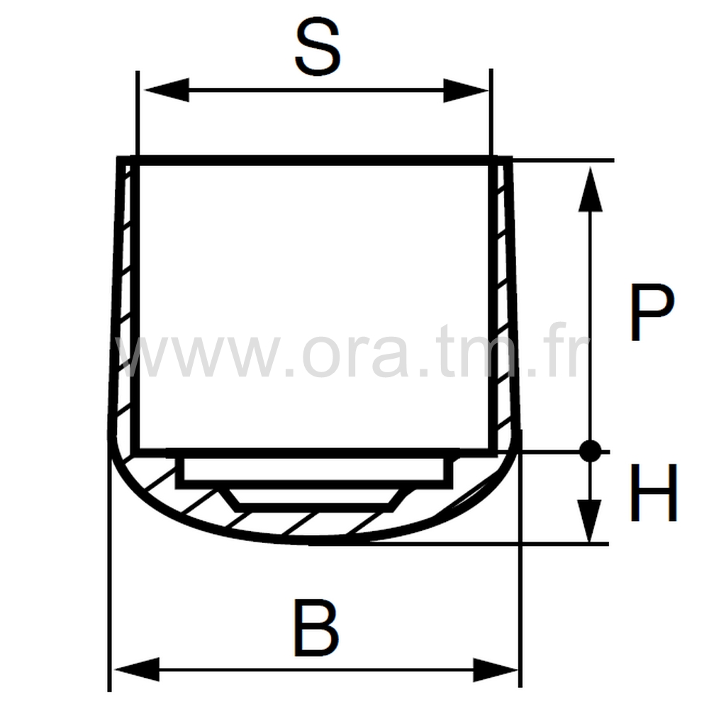 EEW - EMBOUT ENVELOPPANT - SECTION CYLINDRIQUE