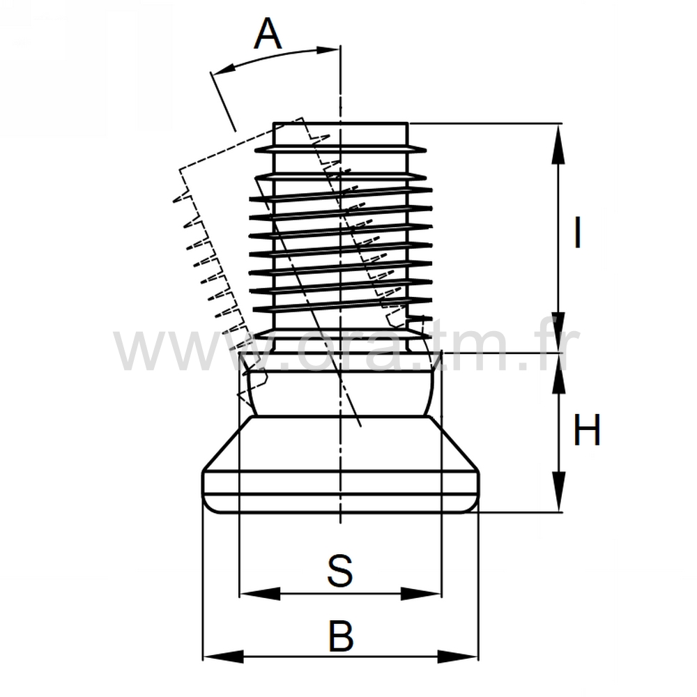 EGP - EMBOUT ORIENTABLE - SECTION CYLINDRIQUE