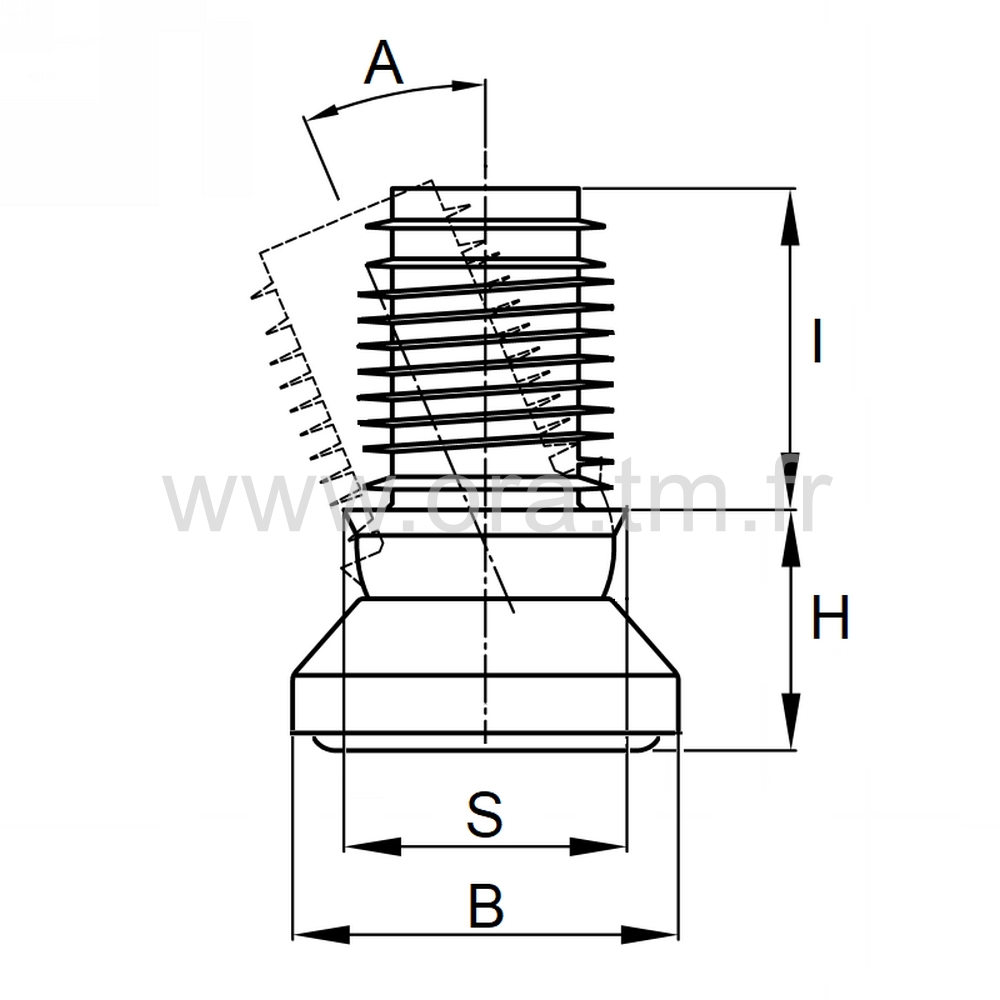 EGPAD - EMBOUT ORIENTABLE - SECTION CYLINDRIQUE