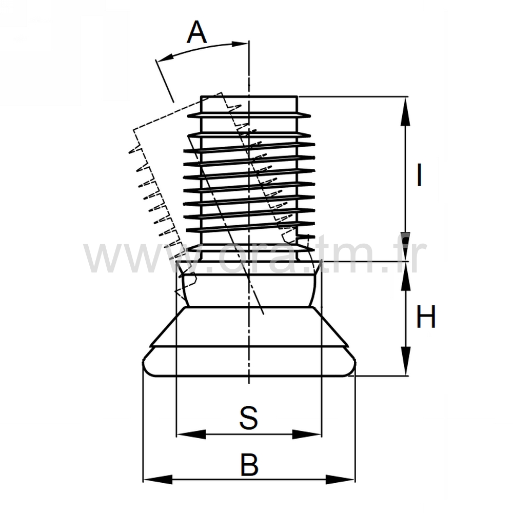 EGPGM - EMBOUT ORIENTABLE - SECTION CYLINDRIQUE