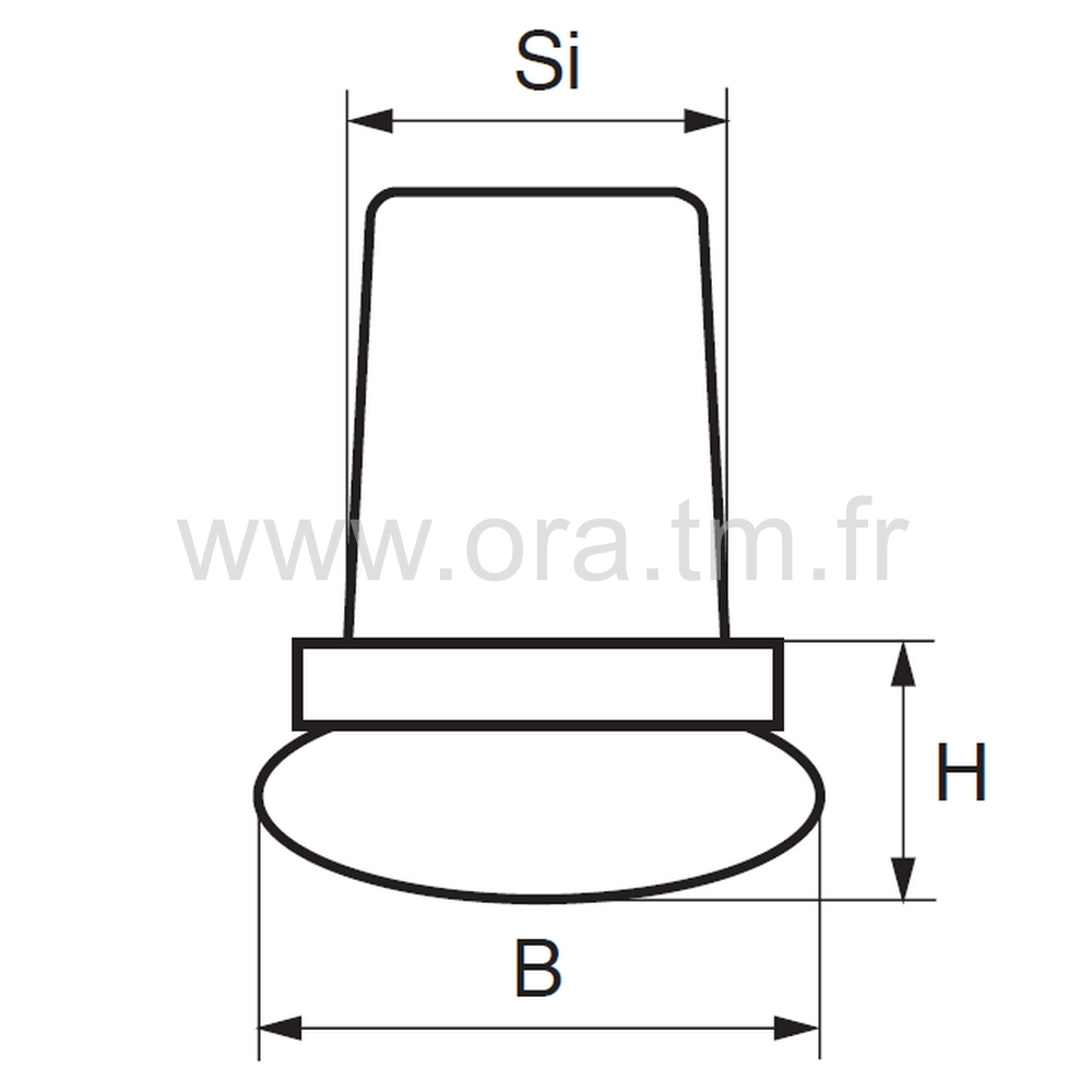 EIMB - EMBOUT A INSERER - SECTION CYLINDRIQUE