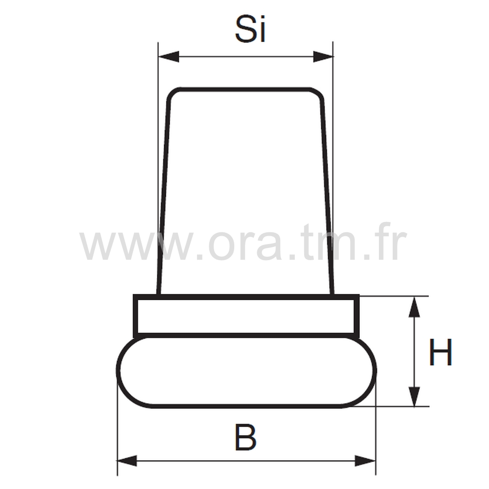 EIP - EMBOUT A INSERER - SECTION CYLINDRIQUE