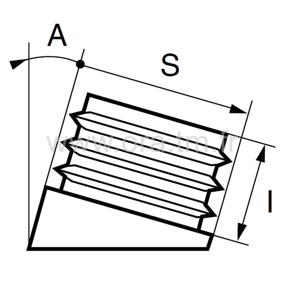 EIR - EMBOUT INCLINE A AILETTES - SECTION RECTANGULAIRE