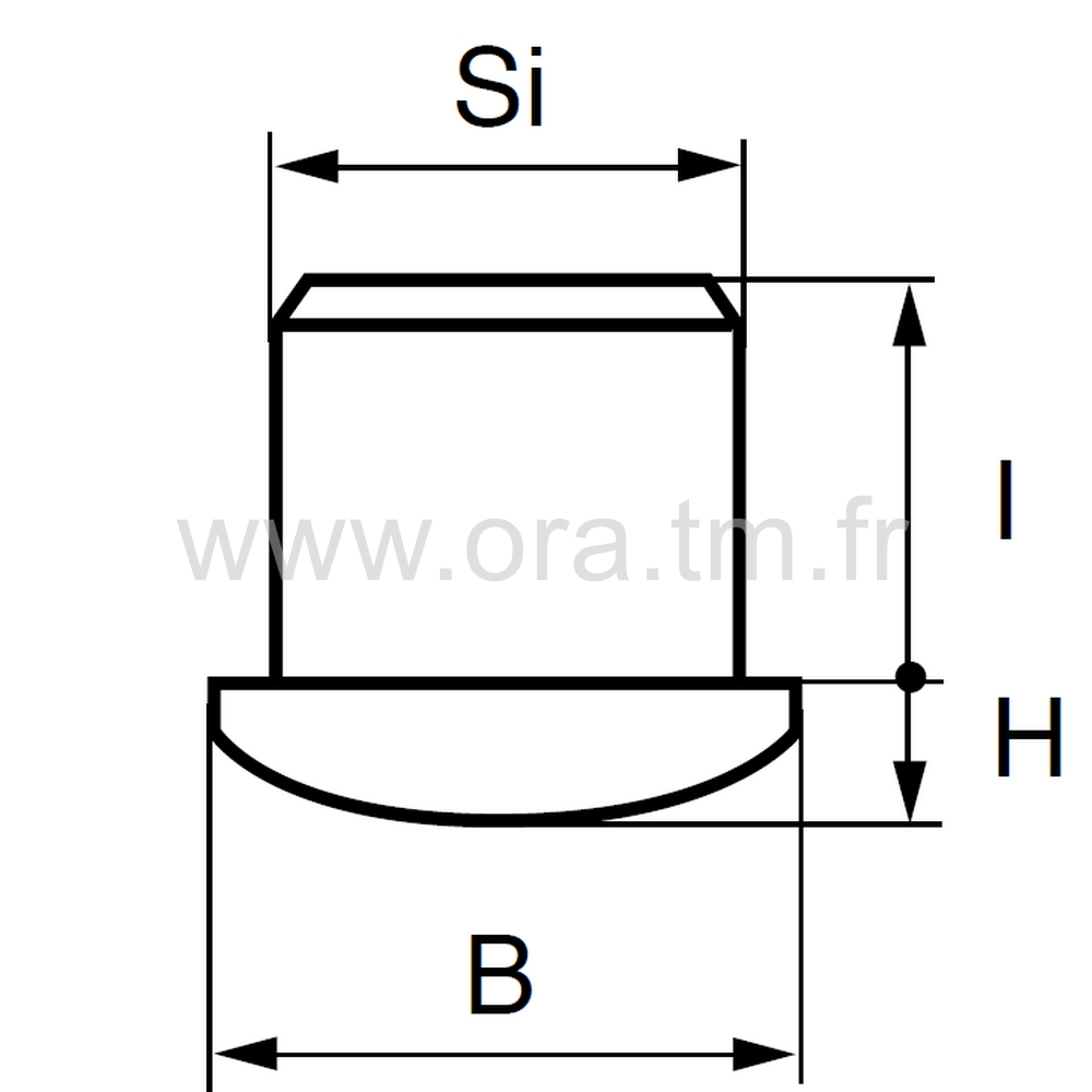 ELS - EMBOUT A INSERER - SECTION CYLINDRIQUE