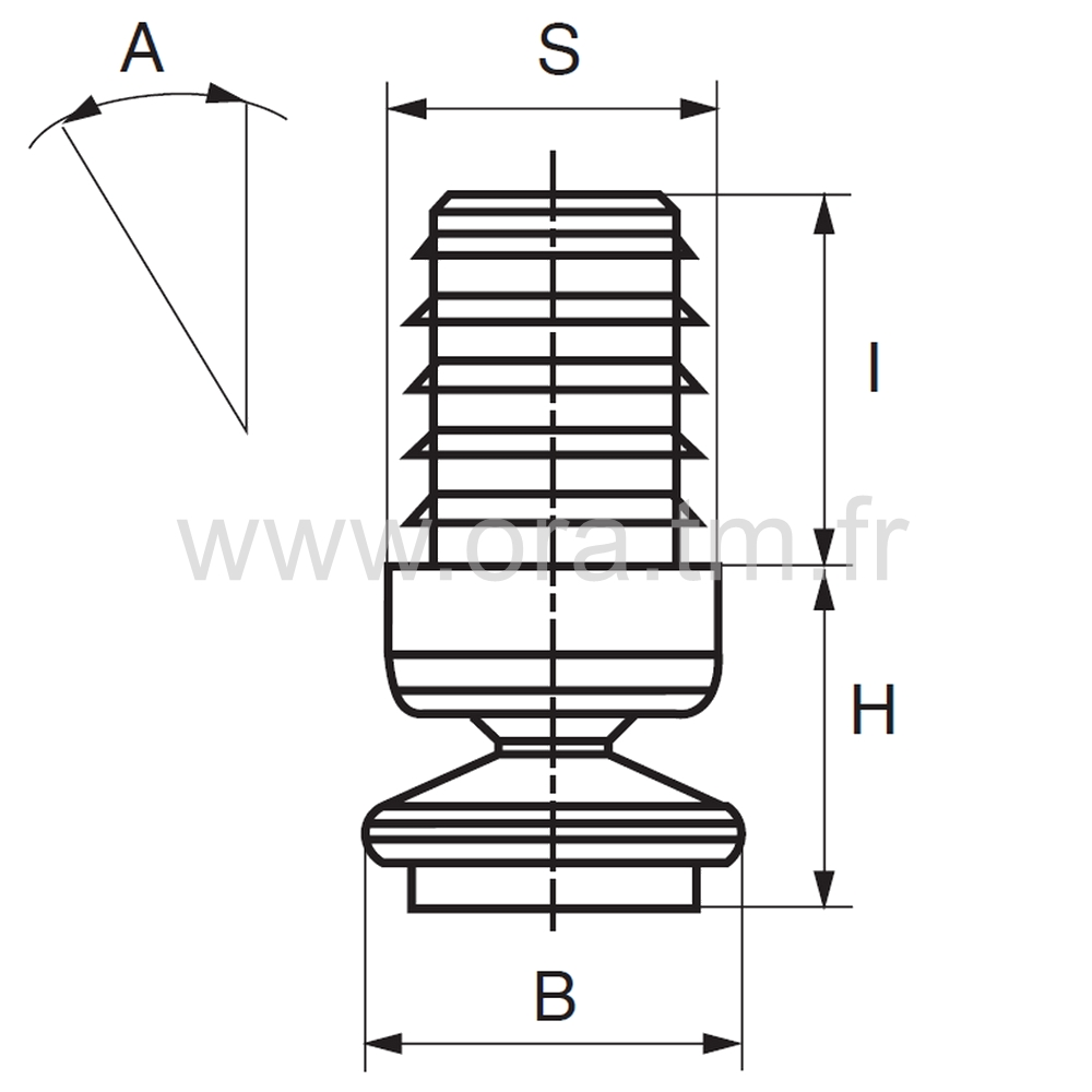 ERA - EMBOUT ORIENTABLE - SECTION CYLINDRIQUE