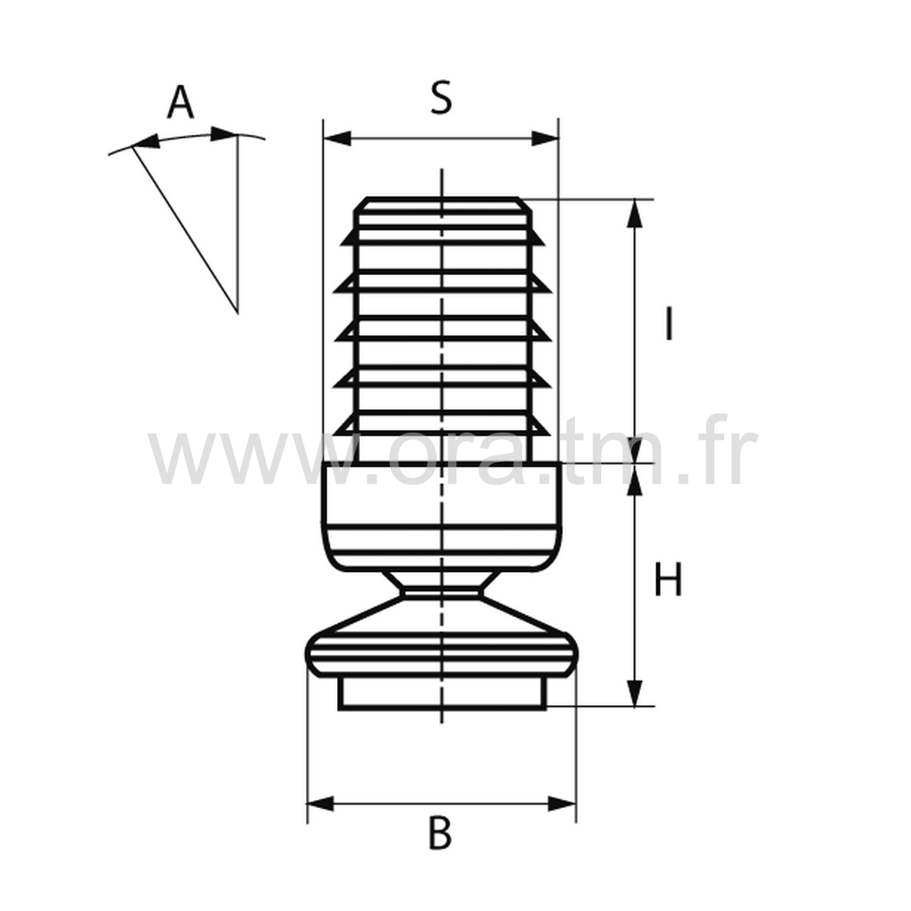 ERAFE - EMBOUT ORIENTABLE - SECTION CYLINDRIQUE