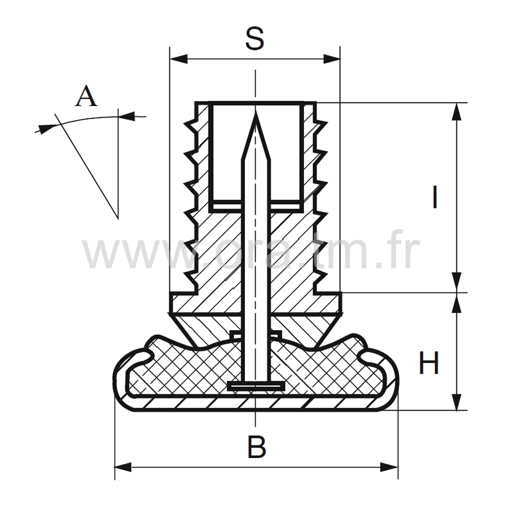ERB - EMBOUT ORIENTABLE - SECTION CYLINDRIQUE