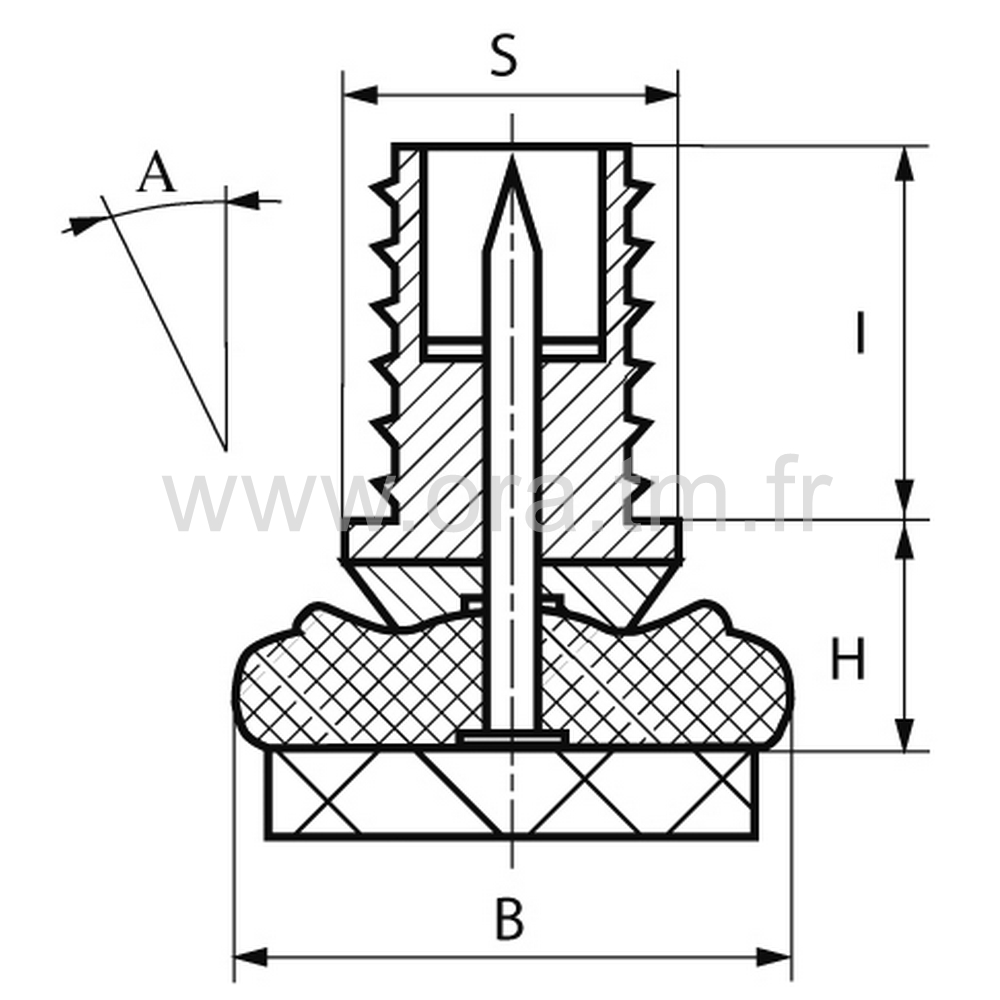 ERBFE - EMBOUT ORIENTABLE - SECTION CYLINDRIQUE
