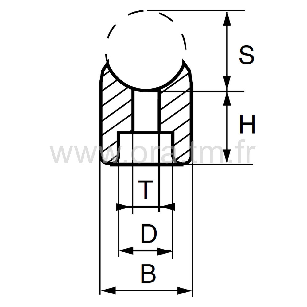 ERC - EMBOUT TRAINEAU - SECTION CYLINDRIQUE