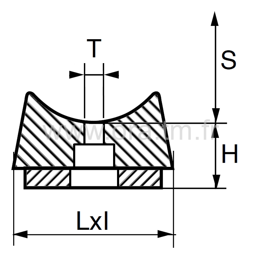 ESBFE - EMBOUT TRAINEAU - SECTION CYLINDRIQUE