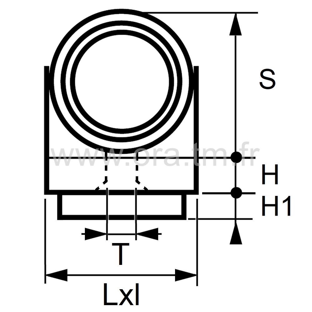 ESCFE - EMBOUT TRAINEAU - SECTION CYLINDRIQUE