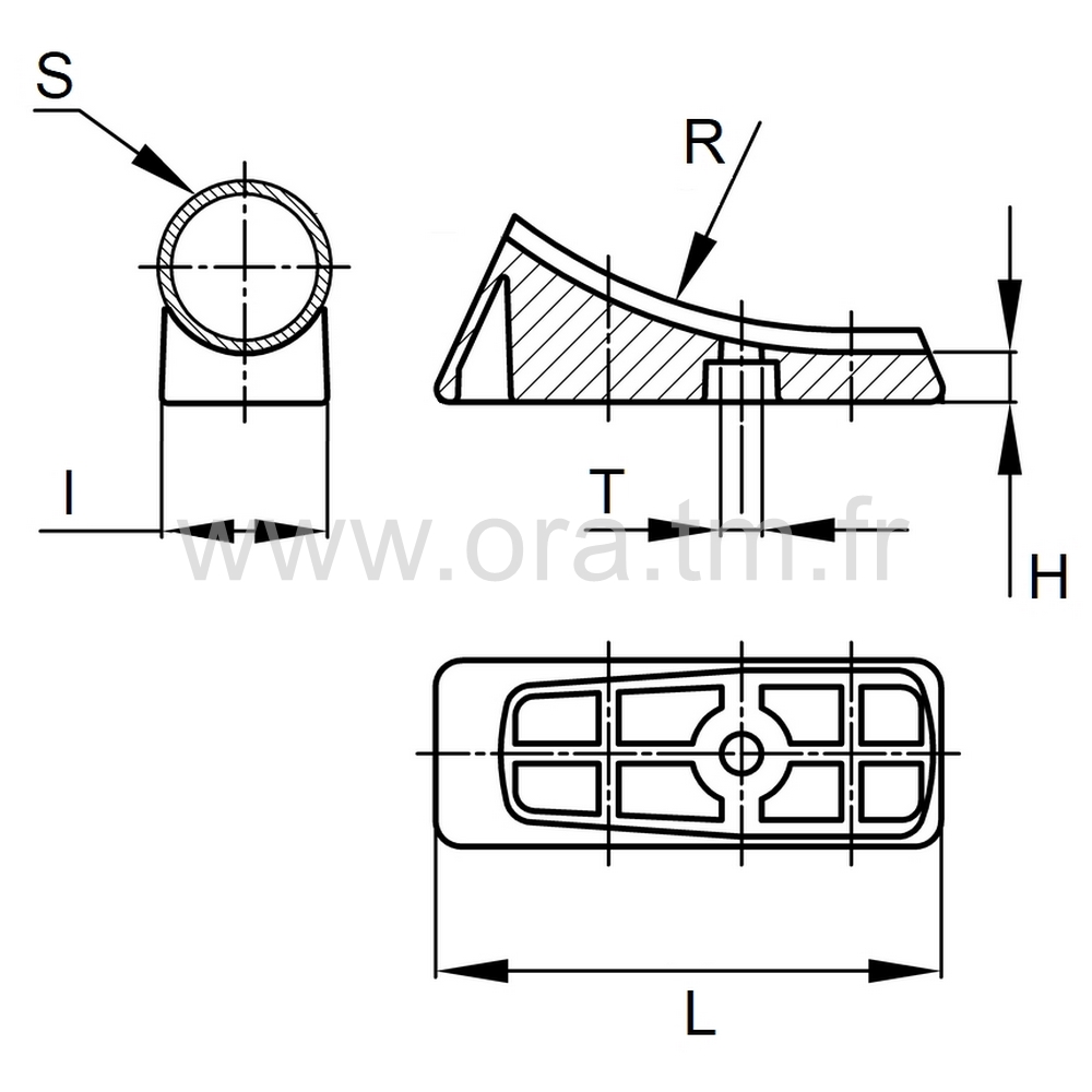 ESD1 - EMBOUT TRAINEAU - SECTION CYLINDRIQUE