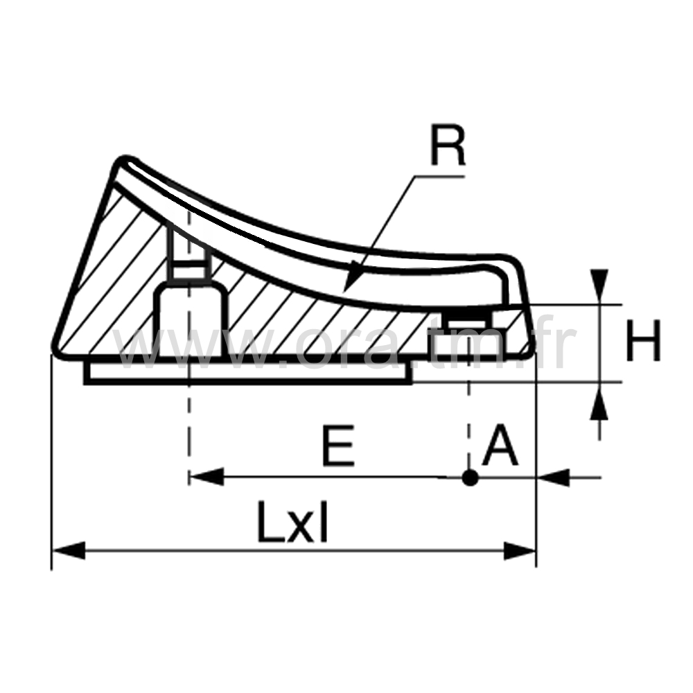 ESDFE - EMBOUT TRAINEAU - SECTION CYLINDRIQUE