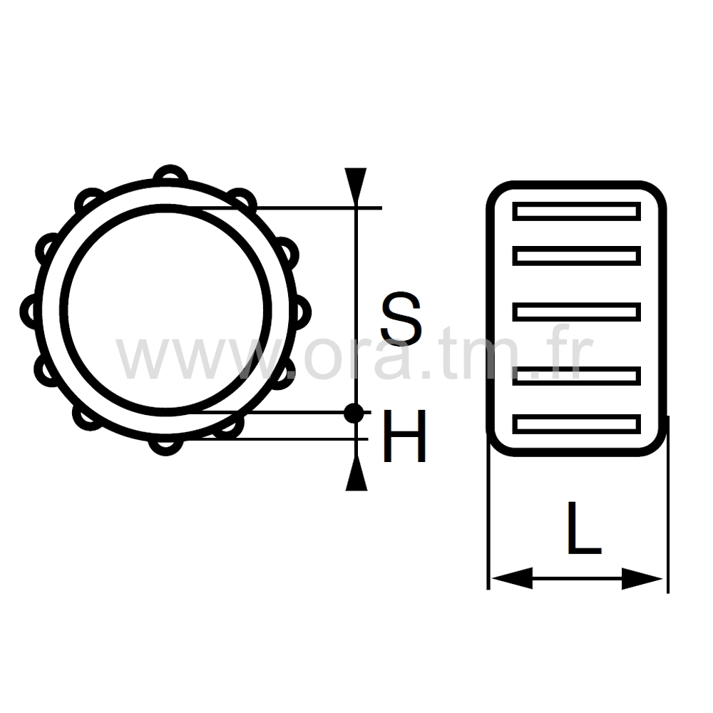 ESI - EMBOUT TRAINEAU - SECTION CYLINDRIQUE