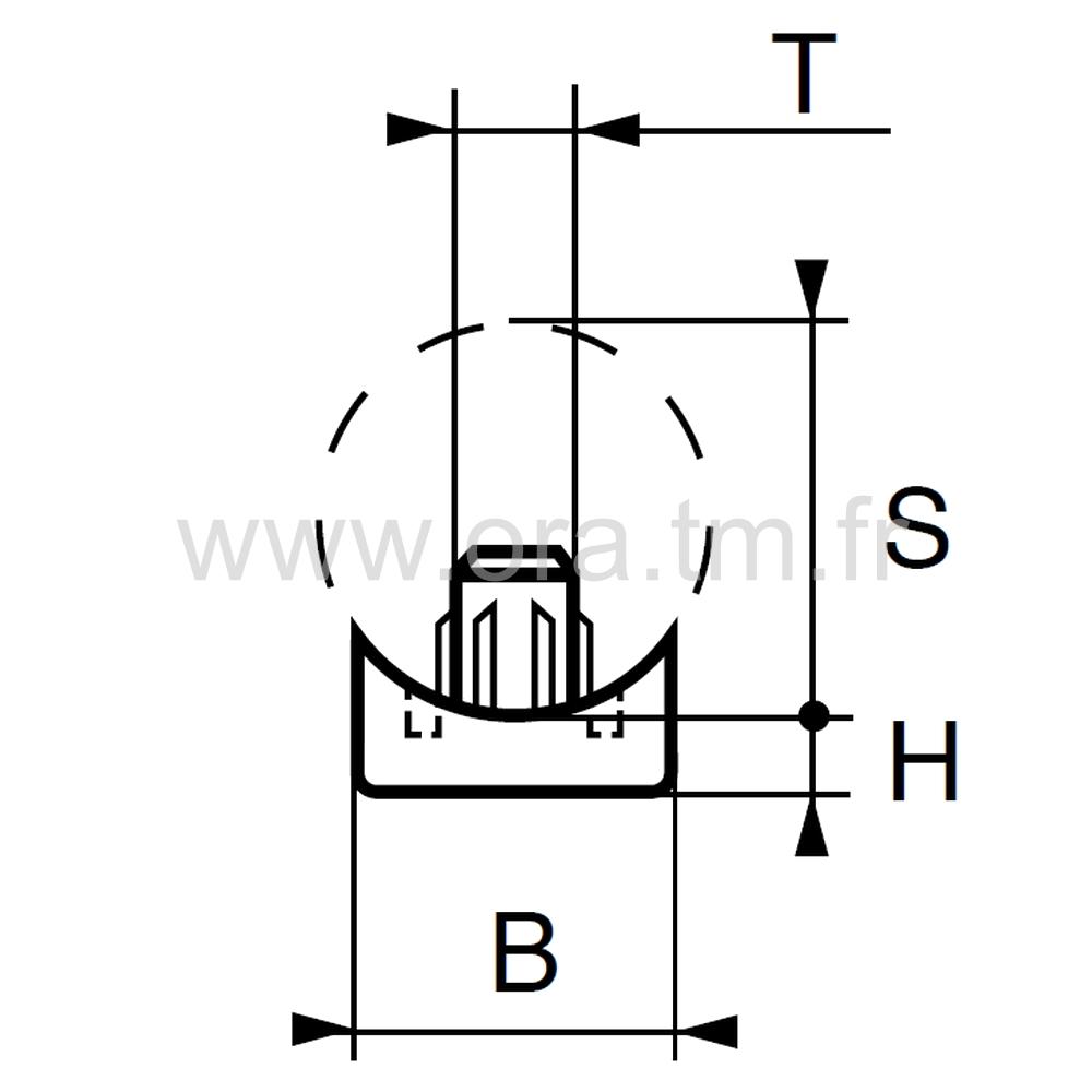 ESJ - EMBOUT TRAINEAU - SECTION CYLINDRIQUE