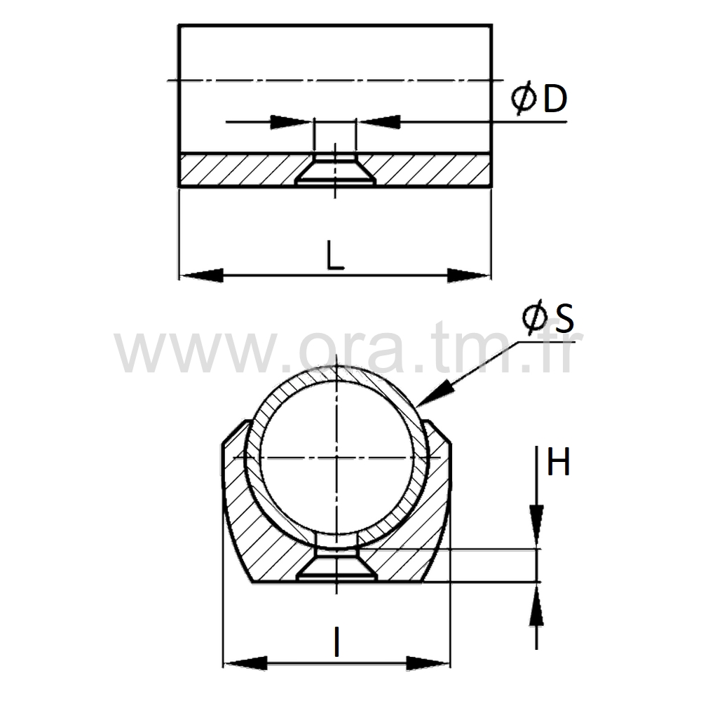 ESK2 - EMBOUT TRAINEAU A PINCER - SECTION CYLINDRIQUE