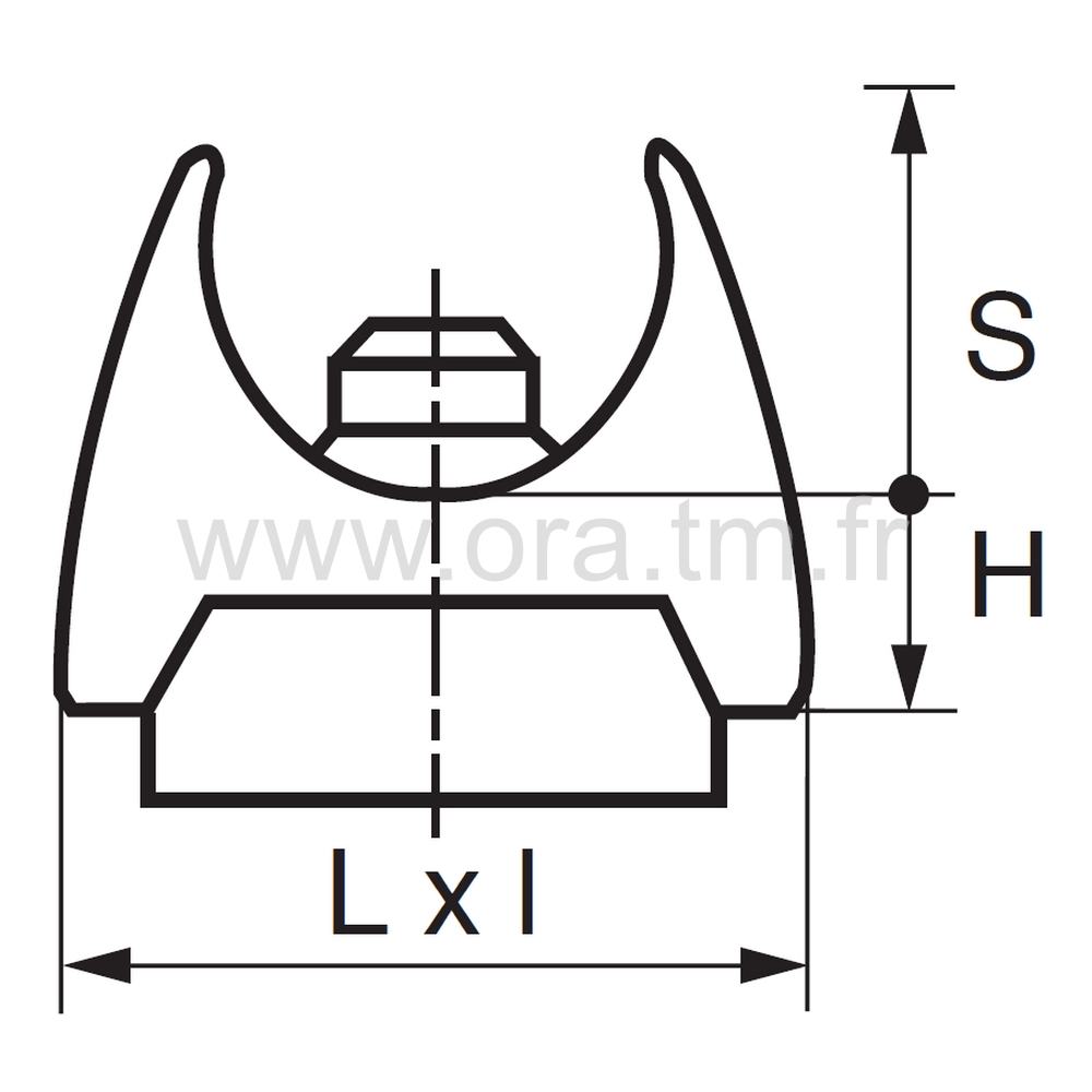 ESKUFE - EMBOUT TRAINEAU A PINCER - SECTION CYLINDRIQUE