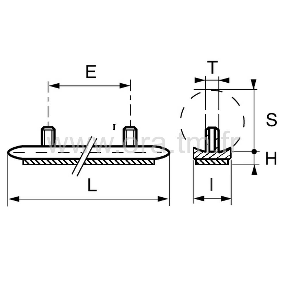 ESTLFE - EMBOUT TRAINEAU - TUBE CYLINDRIQUE