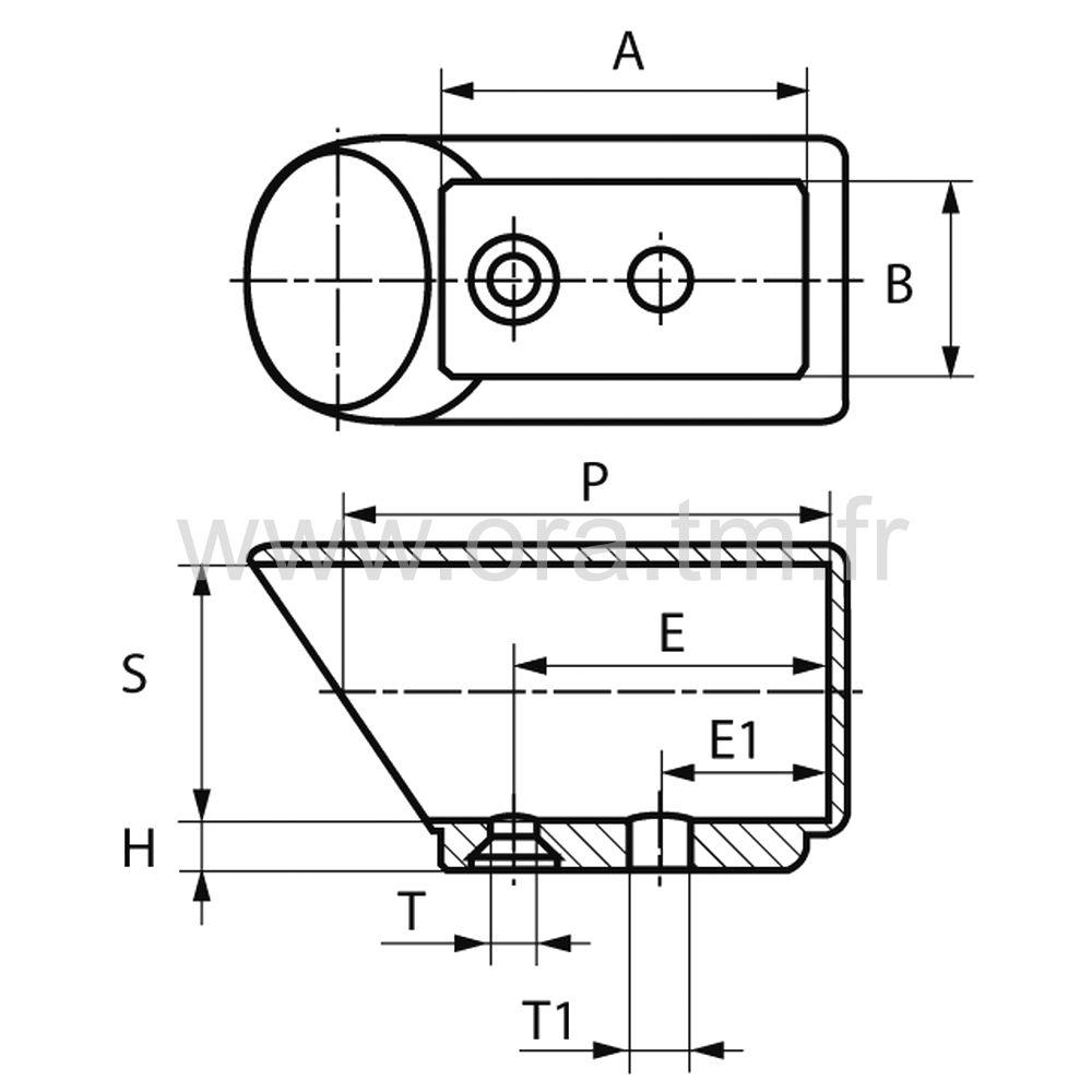 ESY - EMBOUT TRAINEAU - SECTION CYLINDRIQUE