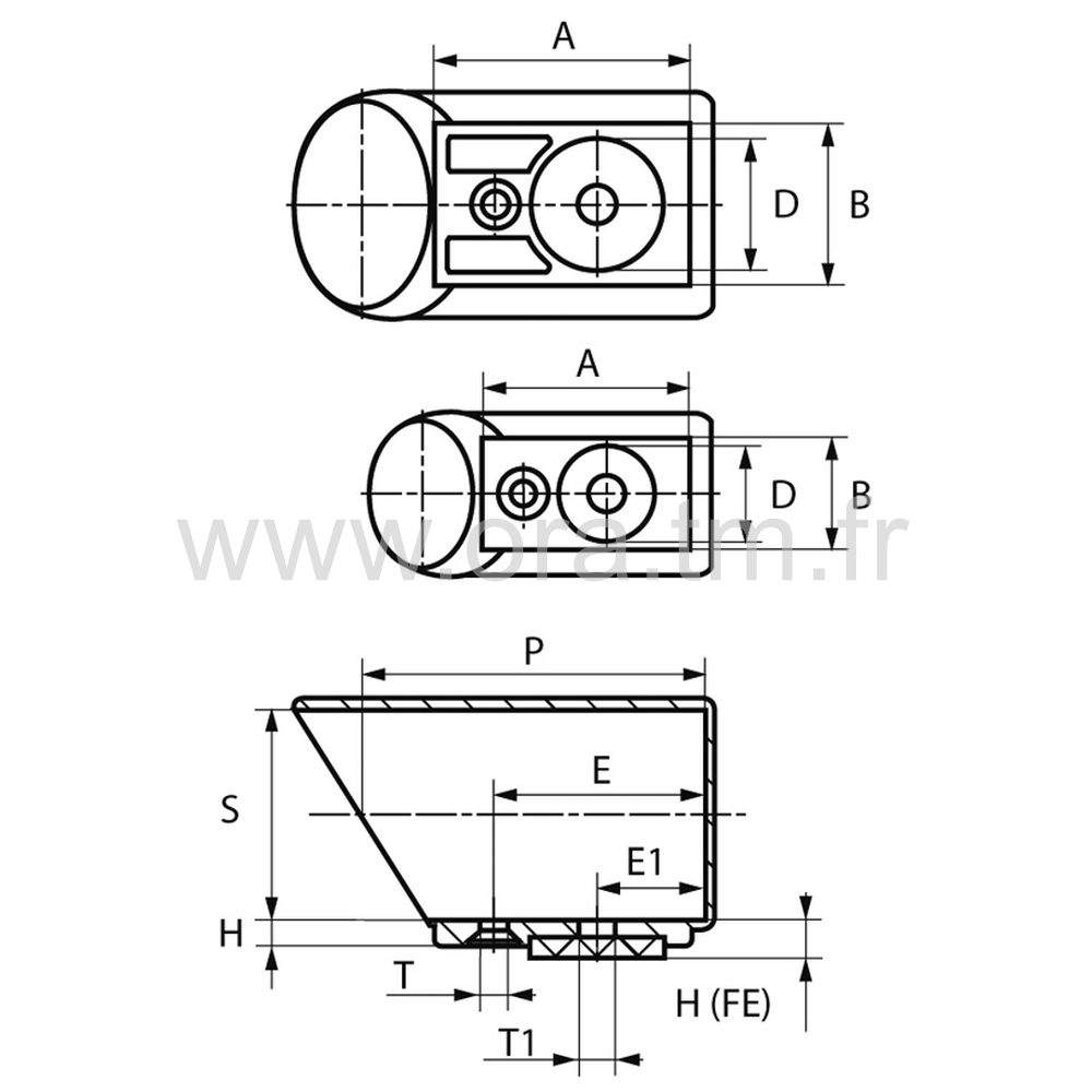 ESYFE - EMBOUT TRAINEAU - SECTION CYLINDRIQUE