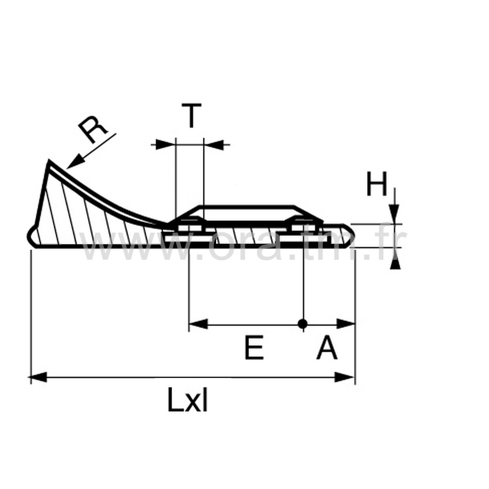 ETAB - EMBOUT TRAINEAU - SECTION CYLINDRIQUE