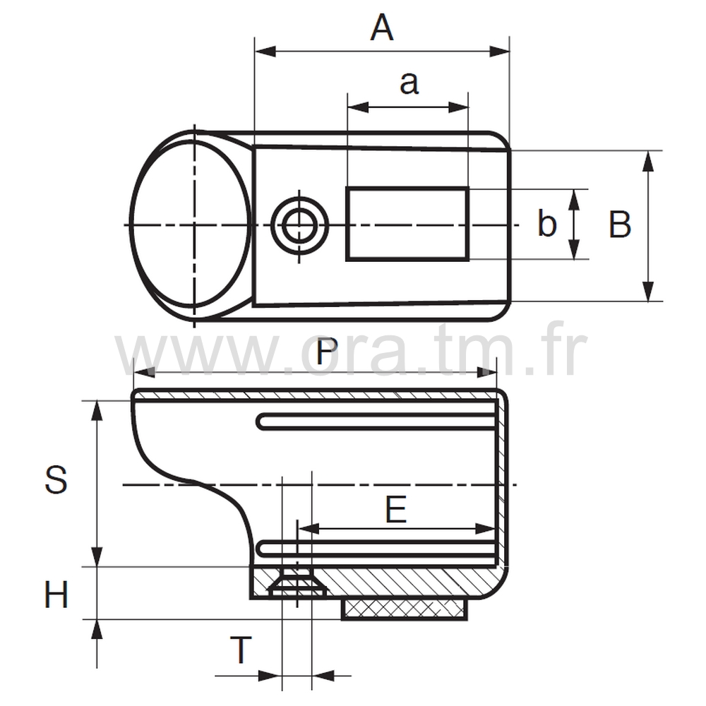 ETPFE - EMBOUT TRAINEAU - SECTION CYLINDRIQUE