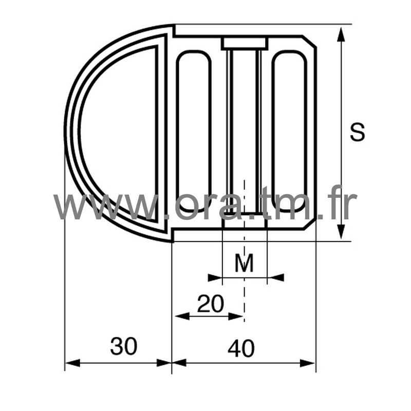 IHRT - INSERTION FILETEE - SECTION TUBE RECTANGLE