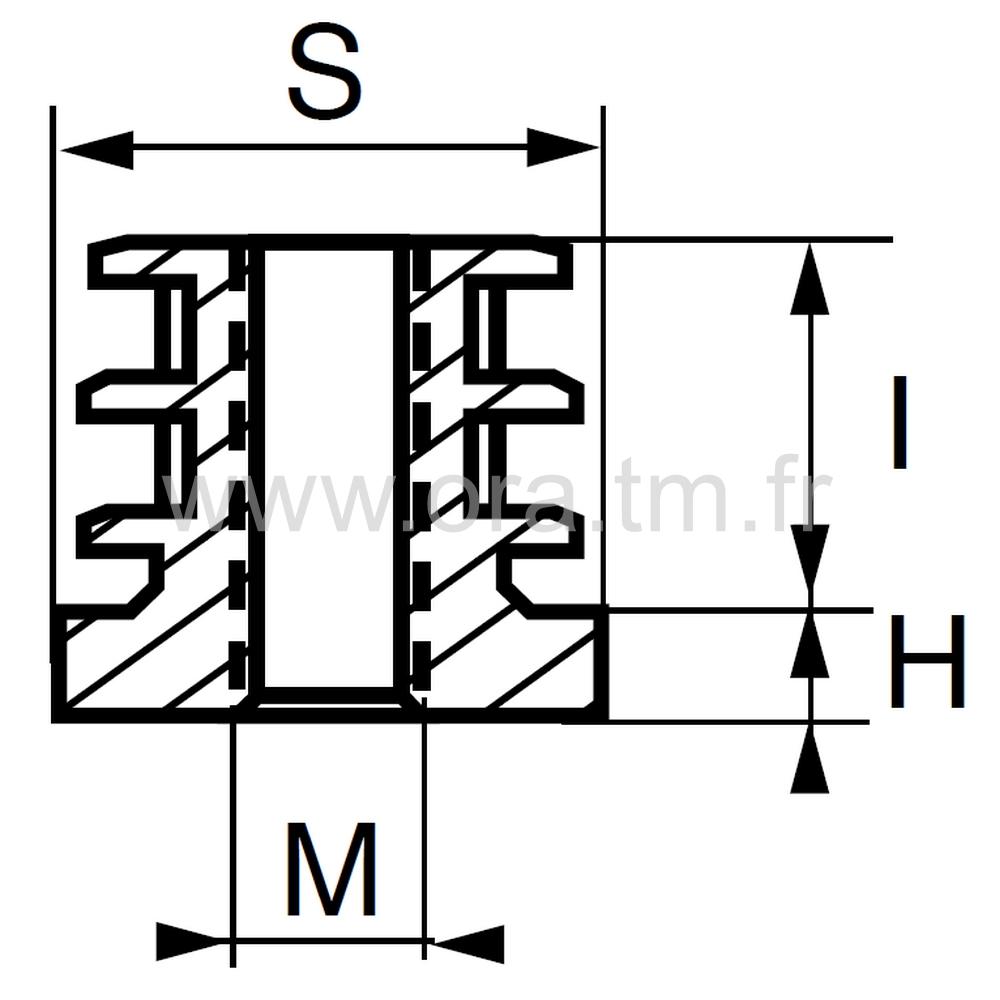IPF - INSERTION FILETEE - TUBE CARRE