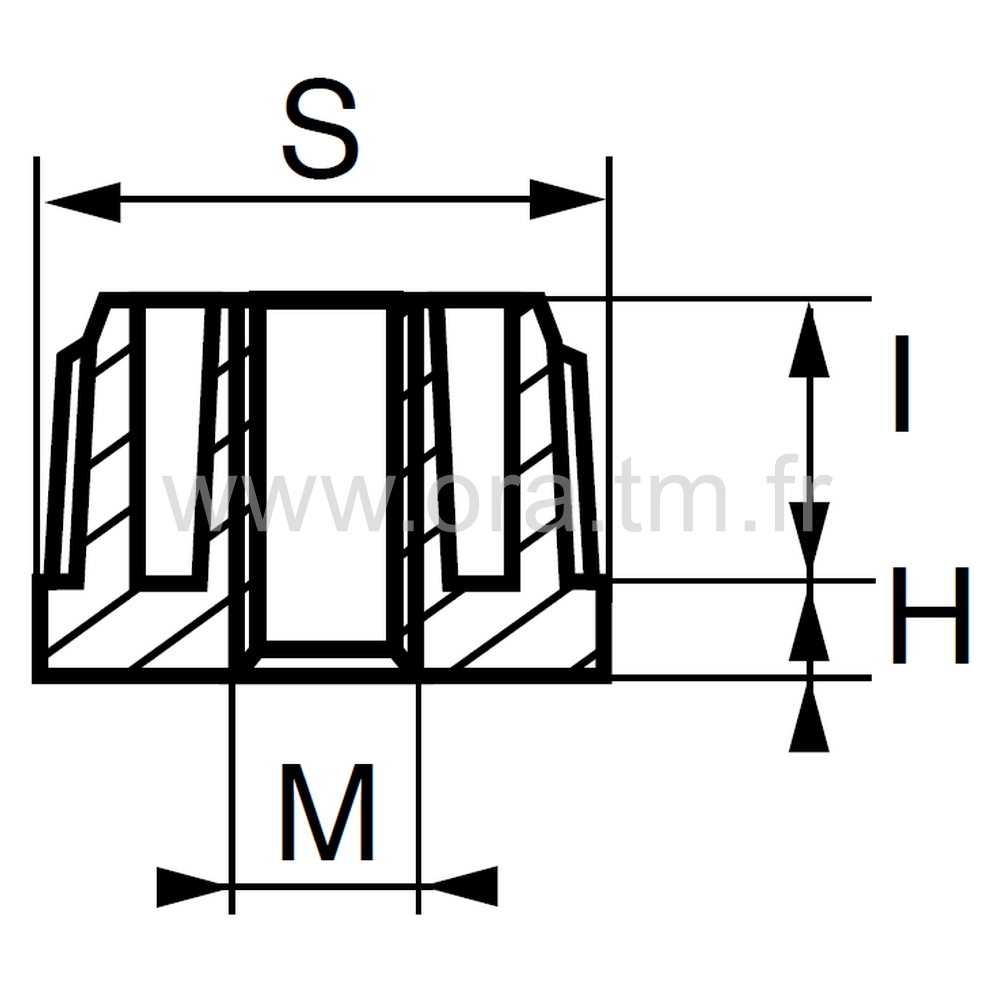 IZFC - INSERTION METAL FILETE - TUBE CARRE
