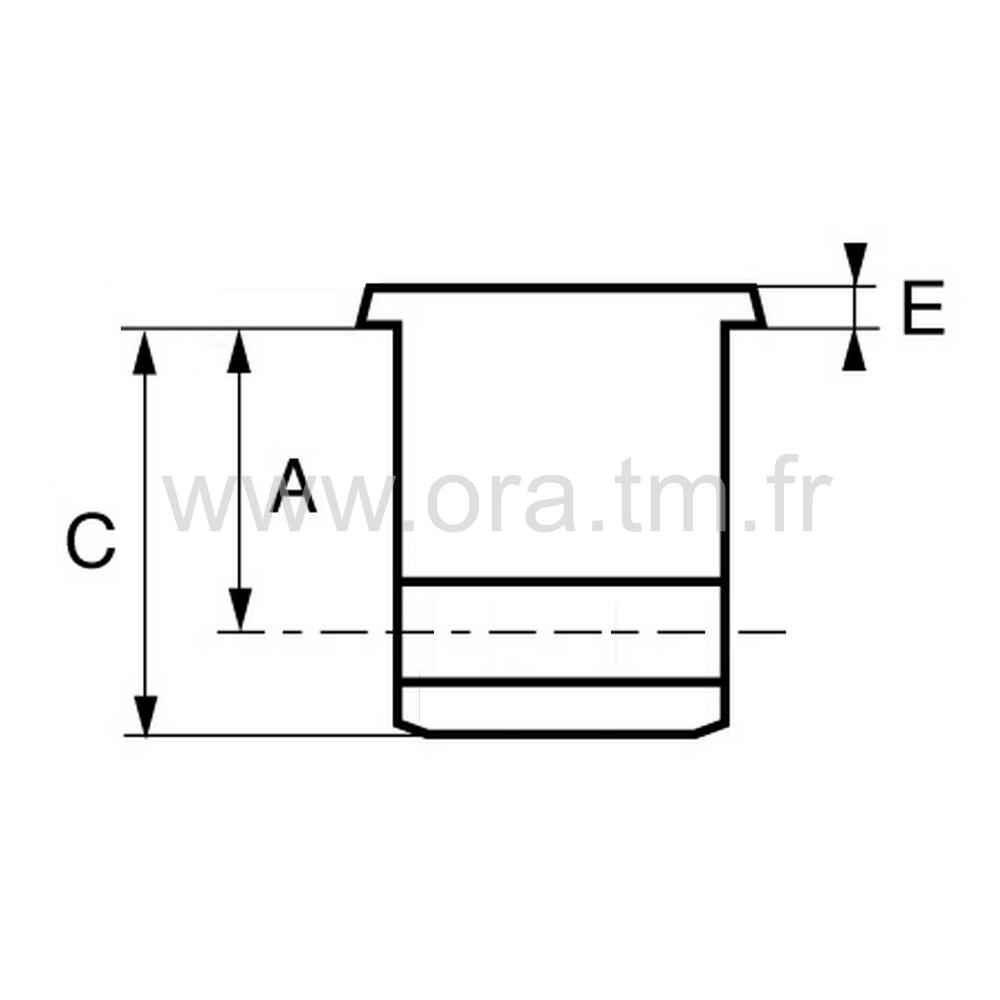 MR3D - INSERTION PORTE ROULETTE - TUBE RECTANGULAIRE
