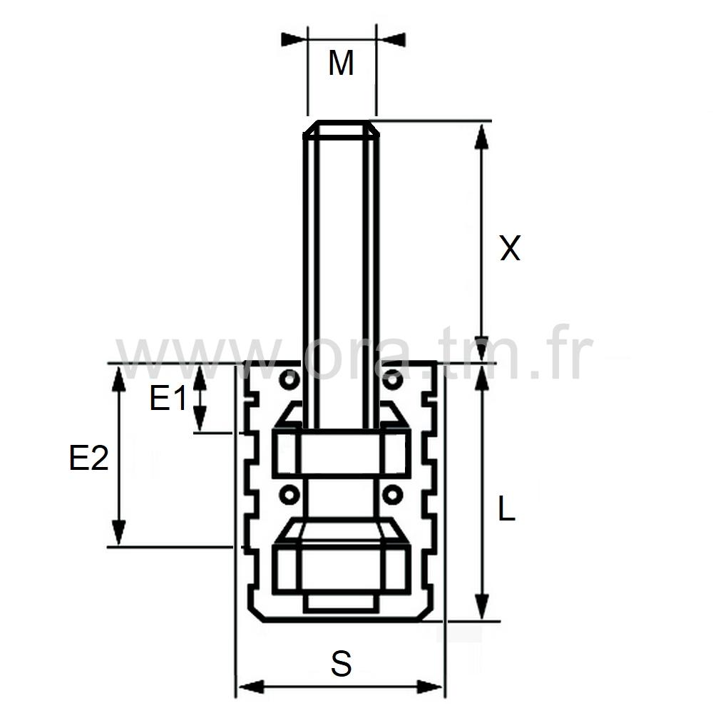 MXYV - MANCHON FILETE EXPANSOR - TUBE CYLINDRIQUE